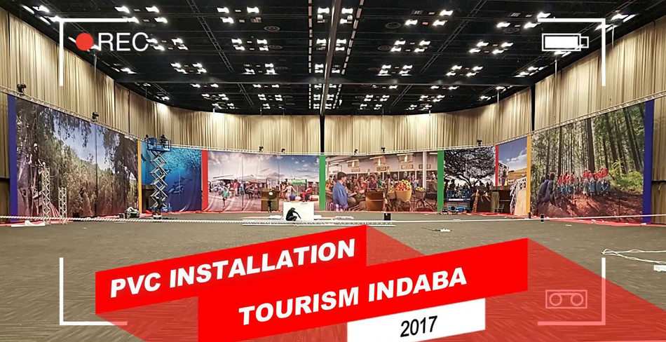 Tourism Indaba PVC Installation