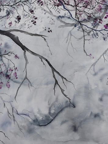 Matin d'hiver- Encre sur toile-100 X 100 cm.jpg