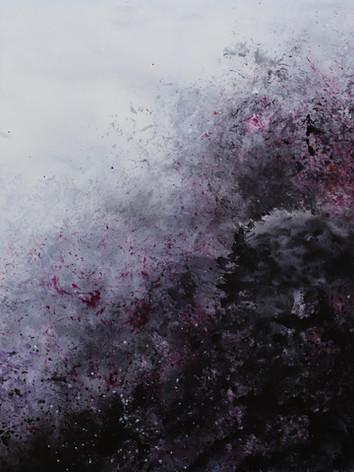 Tumultueuse-Encre sur toile-120 X 150 cm