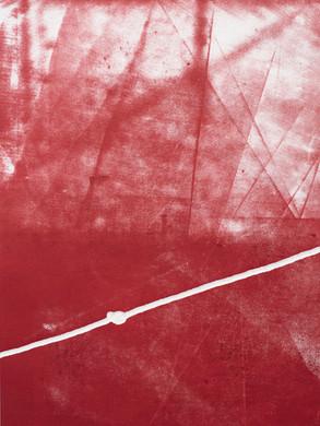 Le noeud 2 - Monotype  30x40 cm
