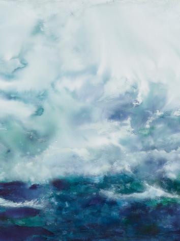 Voyage aquatique 1 - Encre sur toile  100 x 160 cm