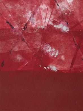 Eclatant - Monotype sur papier Hahnemühle 300g  30 x 40 cm