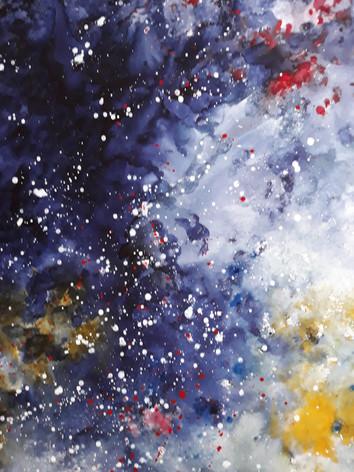 Effervescence - Encre et acrylique sur toile  100 x 140 cm