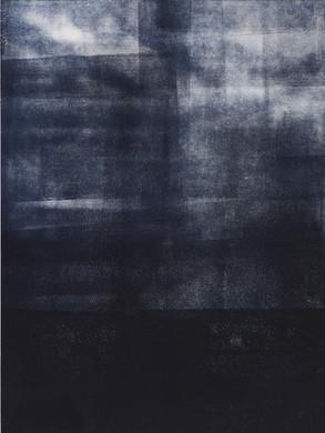 Série Rivage - Estampe Monotype 30 x 40 cm