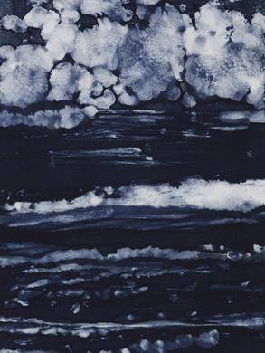 Série Rivage - Estampe Monotype  30 x 20 cm