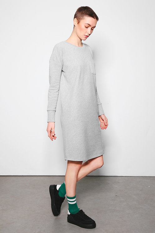 PUCK dress grey melange