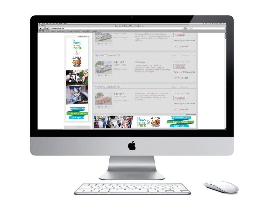 Burton Creative Design, PAWs Atlanta, Digital Banners, Online Advertising