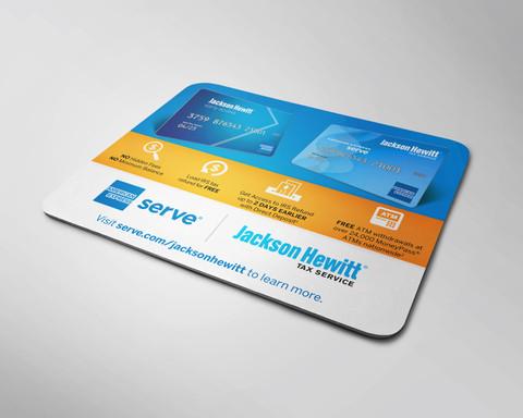 Burton Creative Design, American Express Serve, Jackson Hewitt, Tax, Tradeshow