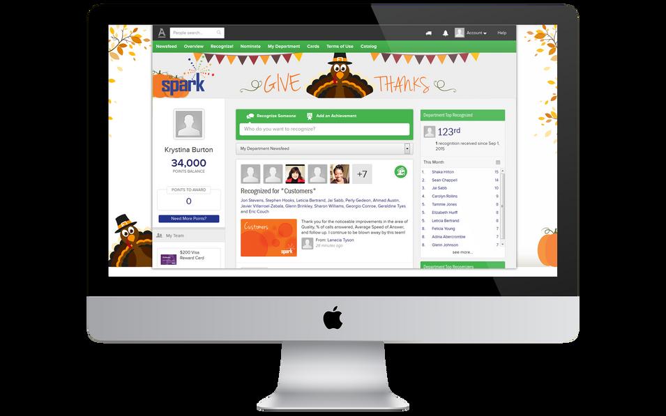 Burton Creative Design, Spark, Seasonal Web Page Campaign