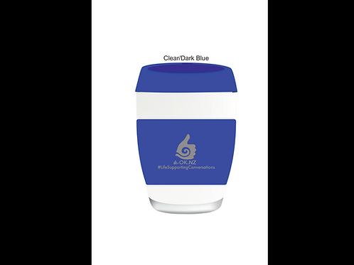 Blue A-OK Glass Cups 340ml capacity