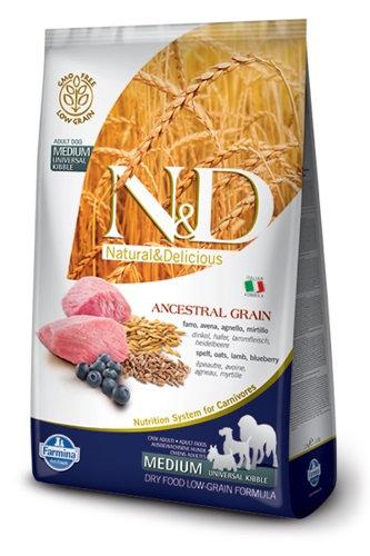 "Natural&Delicious כלב בוגר גזע קטן מופחת דגן כבש ואוכמניות 2.5 ק""ג ND"