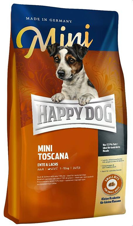 """הפי דוג  טוסקנה - 12.5 ק""""ג מזון לכלבים מסורסים"""