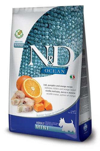 "Natural&Delicious כלב בוגר גזע קטן ללא דגן דג קוד דלעת 2.5 ק""ג ND"