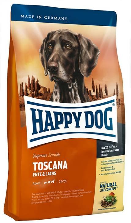 """הפי דוג  טוסקנה - 4 ק""""ג מזון לכלבים מסורסים"""