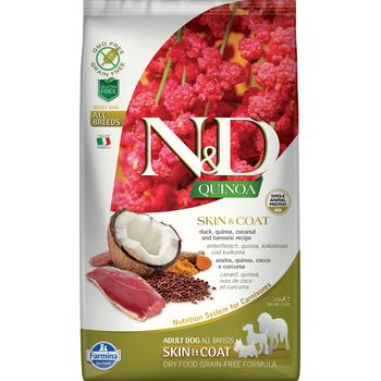 "Natural&Delicious כלב ללא דגן עור ופרווה ברווז וקינואה 7 ק""ג ND"