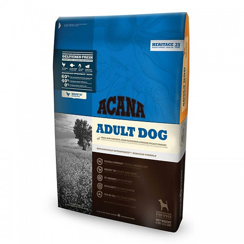 """אקאנה לכלב בוגר 11.4 ק""""ג"""