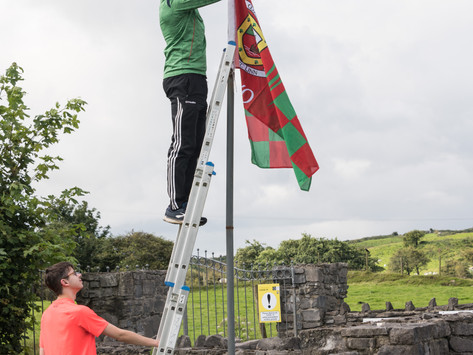 Dermot Flanagan Pays a Visit to Kilmeena GAA Club 2021-08-21