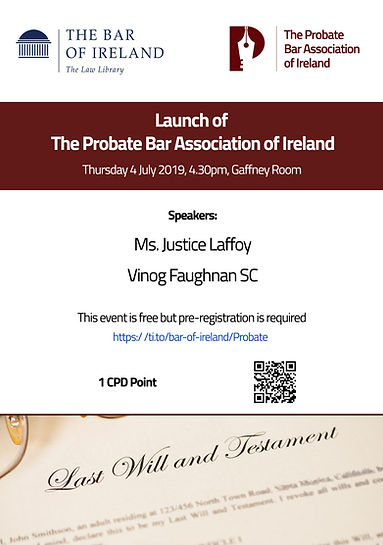 Probate Bar Association Launch - Poster.