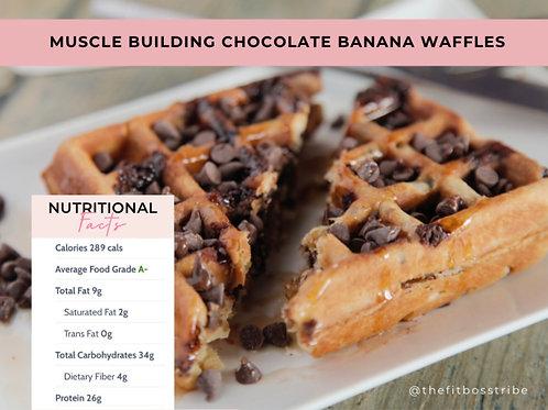 Muscle Building Chocolate Banana Waffle