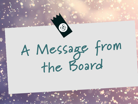 A message from our Co-chair of the Board, Vonnie Snyder
