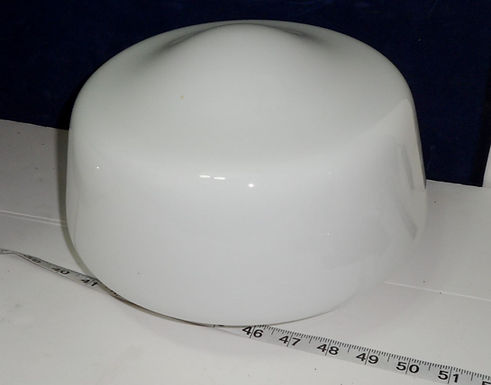 10in Milk Glass Shade With 3-3/4in Fitter