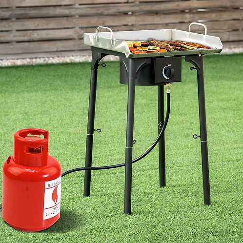 100 000-BTU Portable Propane Outdoor Camp Stove with Adjustable Legs