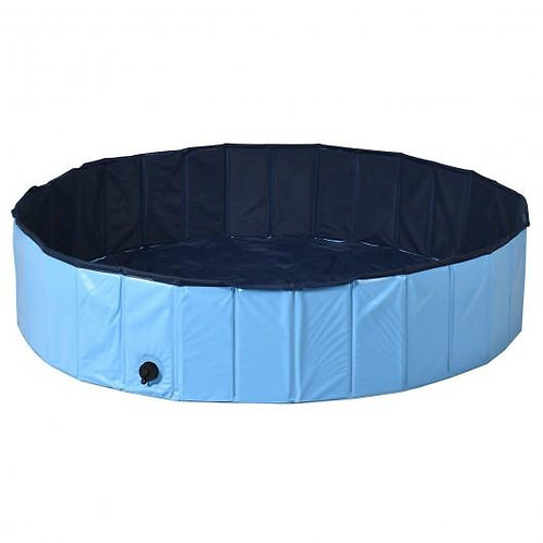 "55"" Foldable Dog Pet Pool-Blue"