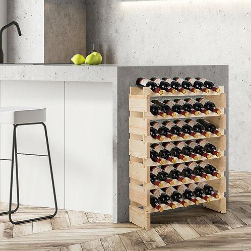 36 Bottles Stackable Wooden Wobble-Free Modular Wine Rack