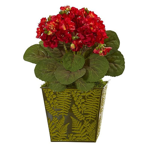 """13""""  Violet Artificial Plant in Green Planter"""