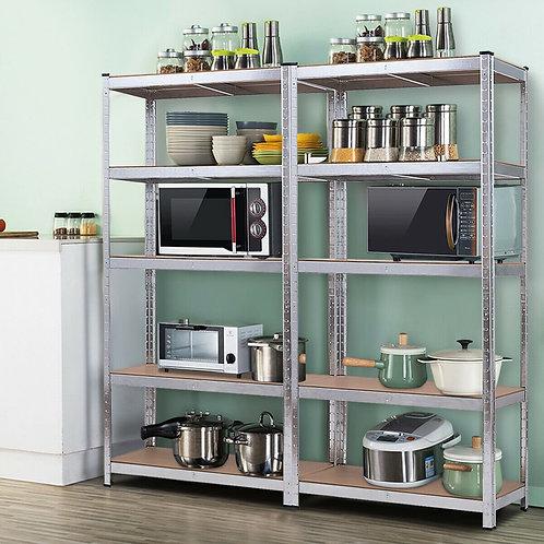 2 Pcs Storage Shelves Garage Shelving Units Tool Utility Shelves