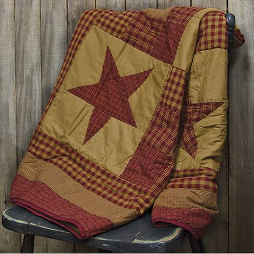 *Ninepatch Quilted Throw
