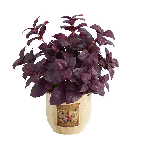 "12"" Basil Artificial Plant in Decorative Planter"