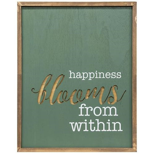 *Happiness Blooms From Within Framed Cutout Wall Art
