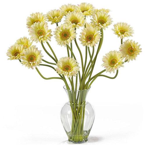 Gerber Daisy Liquid Illusion Silk Flower Arrangement