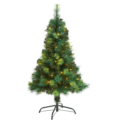 4' Assorted Green Scotch Pine Artificial Christmas Tree with 70 LED Lights