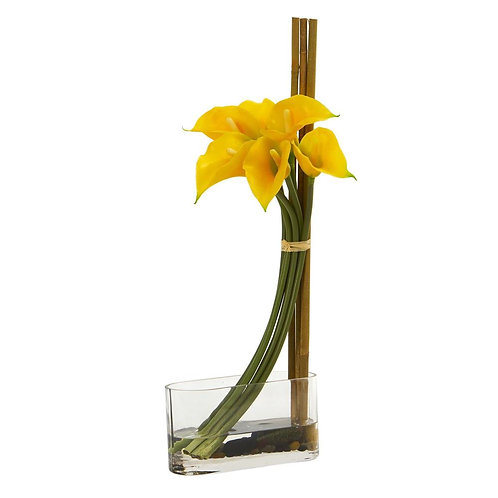 """18"""" Calla Lily with Bamboo Artificial Arrangement"""