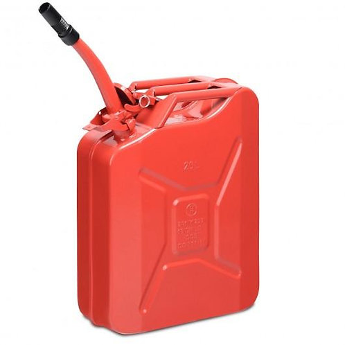 5 Gallon Steel Gas 20 L Jerry Fuel Can-Red