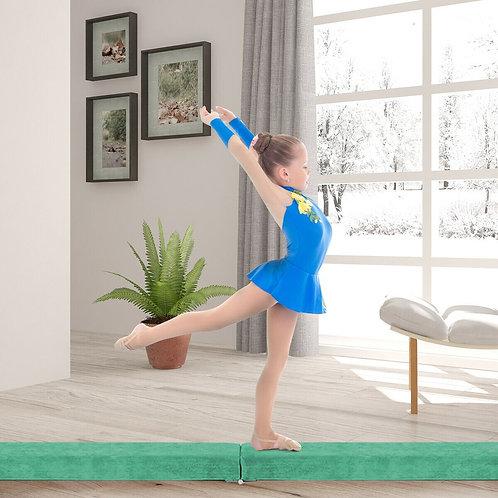 7' Sectional Gymnastics Floor Balance Beam-Green