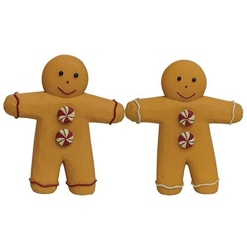 *2/Set Resin Button Gingerbread Men G86826 By CWI