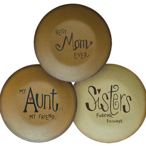 Pack of 4 Mom Aunt Sister Plate 3 Asstd.