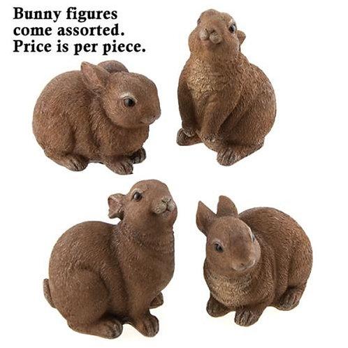 Pack of 4 Resin Brown Bunny 4 Asstd.