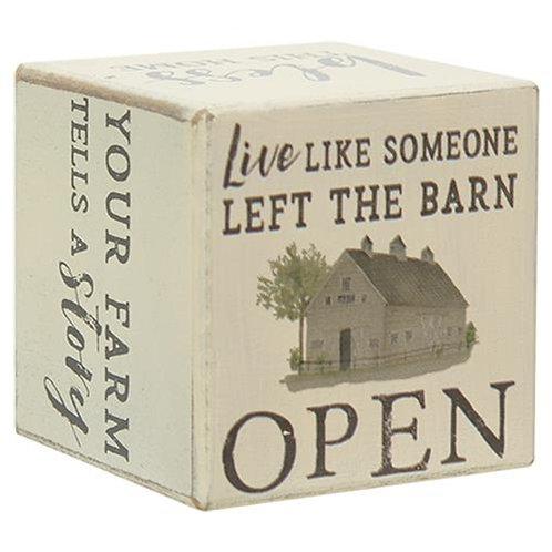 Pack of 2 Faith Family Farm Six-Sided Block