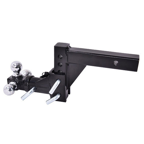 Triple Ball Swivel Adjustable Drop Turn Trailer Tow Hitch Mount