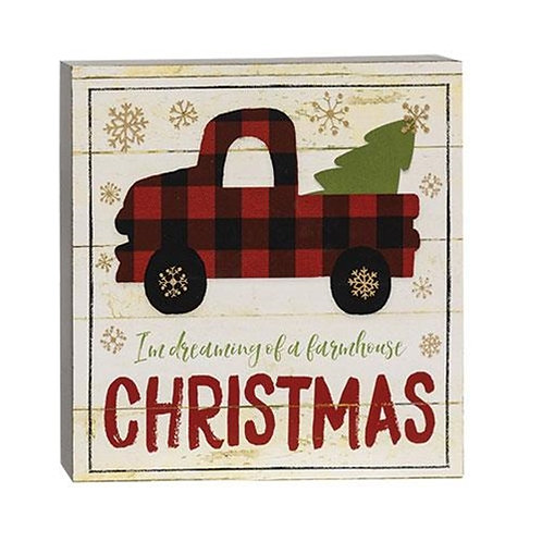 I'm Dreaming of a Farmhouse Christmas Box Sign