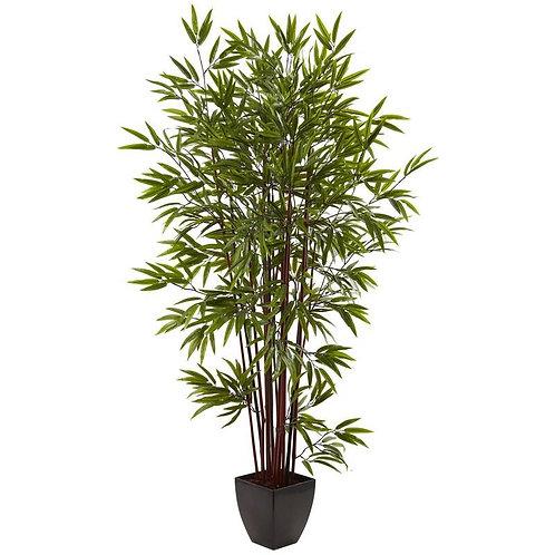 6' Bamboo Silk Tree w/Planter