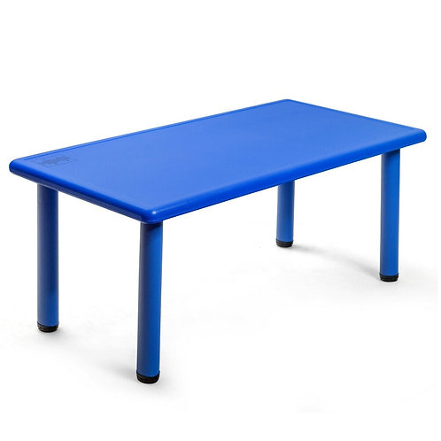 Kids Plastic Rectangular Learn and Play Table-Blue