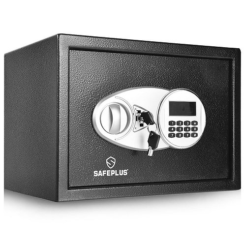 2-Layer Safe Deposit Box with Digital Keypad