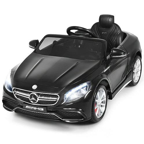 12 V Mercedes-Benz S63 Licensed Kids Ride On Car-Black