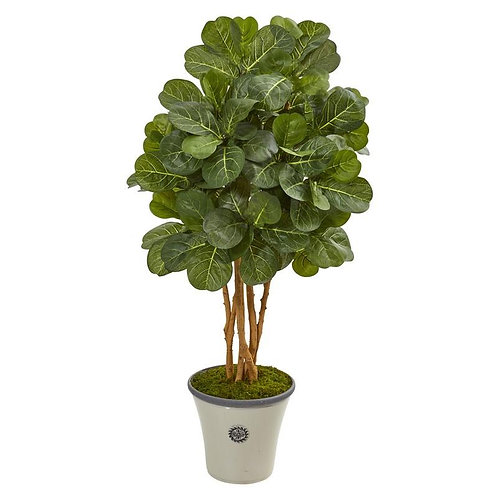 """57""""  Fiddle Leaf Fig Artificial Tree in Decorative Planter"""