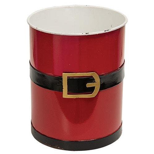 Santa Suit Metal Bucket